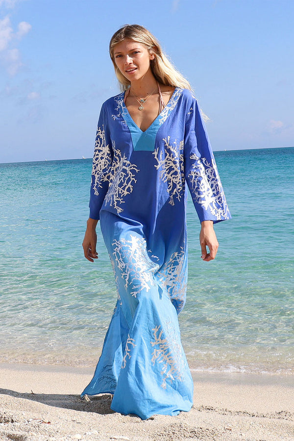 Tally Maxi Tunic Blues