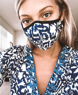 Cabo Ikat Face Mask with Trim