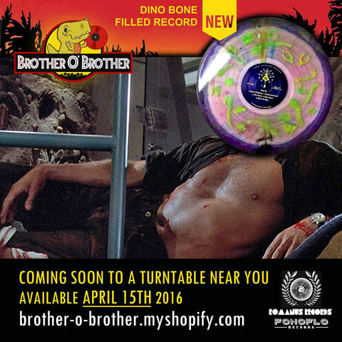 Brother O' Brother Self Titled Glow In The Dark Dino Bone Filled Record