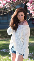 Great lightweight white sweater for spring