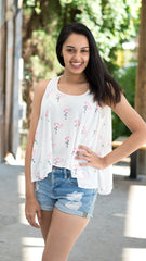 Flamingo print top by Buddy Love