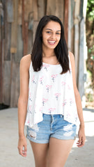 Flamingo print tank top by Buddy Love