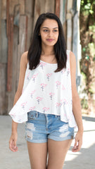 Buddy Love Flamingo print tank top