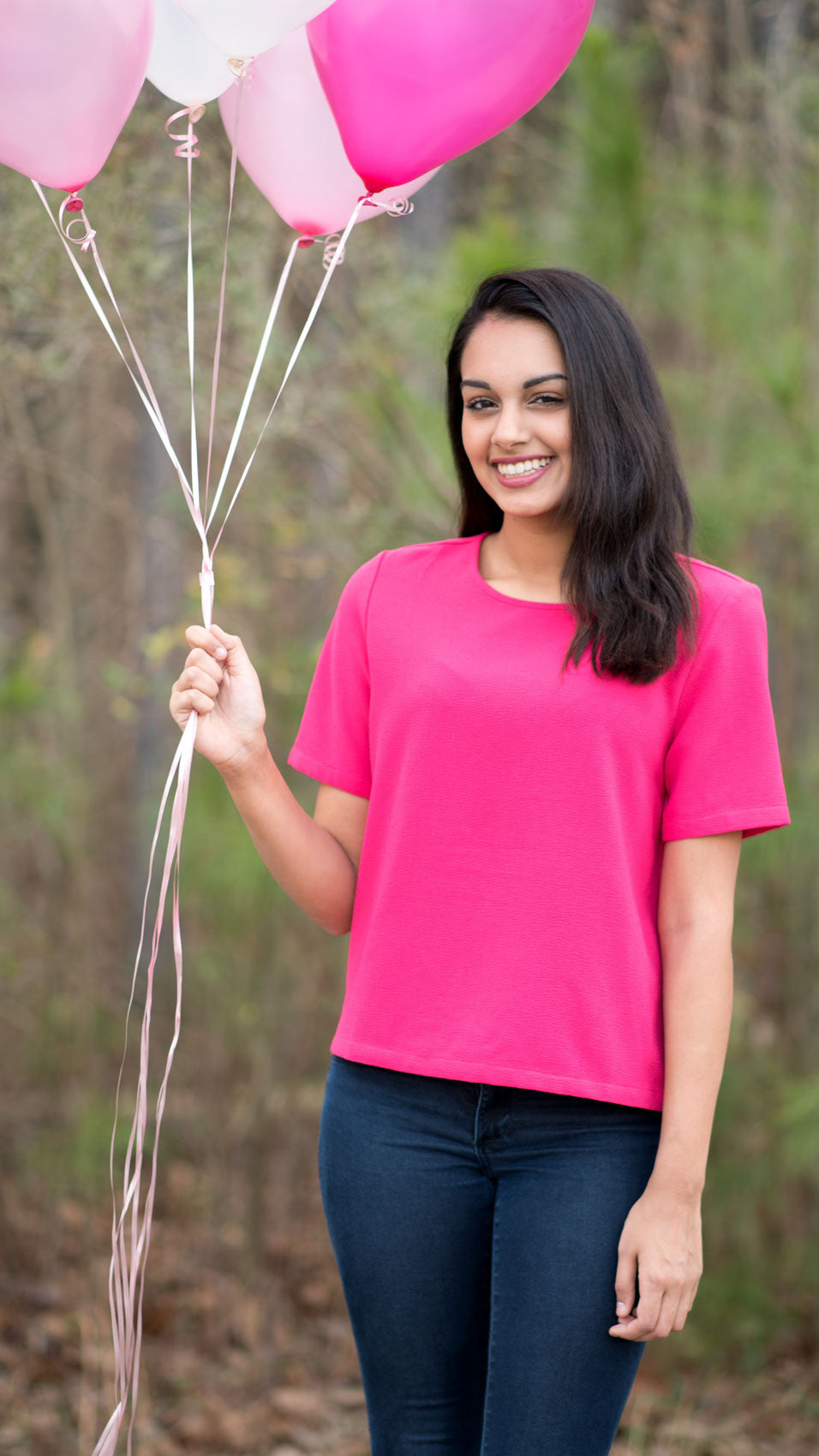 Bright pink Buddy Love top