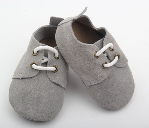 Gray Suede Oxfords