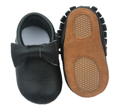 Black Bow Skid Proof Moccasin
