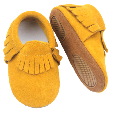 Yellow Suede Skid Proof Moccasin