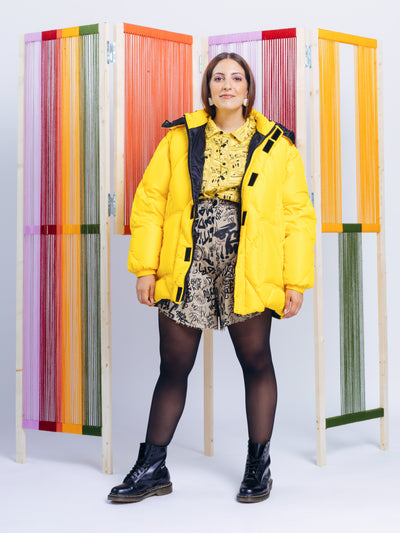 Alexandra Moura X Duffy Bela Vista Unisex Puffer Jacket in Yellow