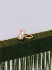 Beatriz Palacios Gold Plated Silver and Fresh Water Baroque Pearl