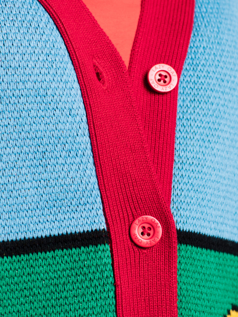 Lazy Oaf X Mr. Men Walter's World Cardigan