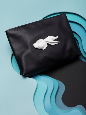ANDRESGALLARDO Pouch Rabbit Head Black