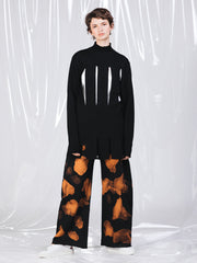 Marques'Almeida Slitted Black Knitted Jumper