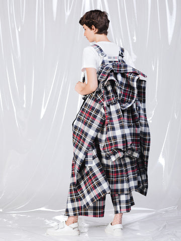 Alexandra Moura Cotton Woven Tartan Trench Coat