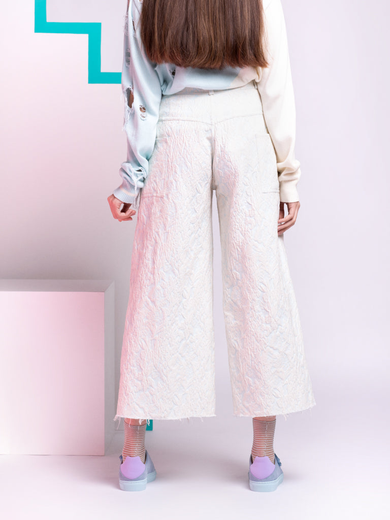 Alexandra Moura Blue Brocade Trousers