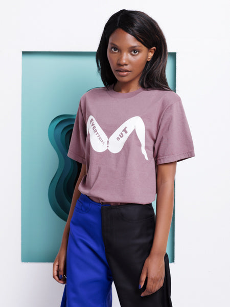 Rachel Antonoff Everything But T-shirt in Eggplant