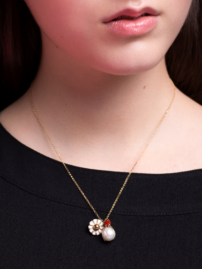 Beatriz Palacios Daisy Charms Necklace