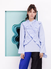Alexandra Moura Frill Striped Shirt