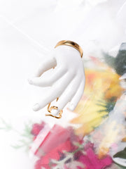 ANDRESGALLARDO 18K Gold Plated and Handcrafted Porcelain Hand Pin