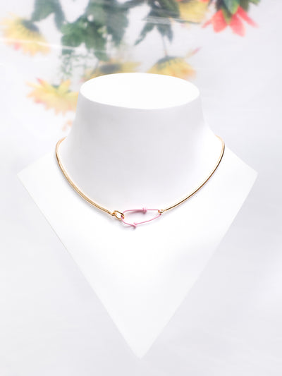 ANDRESGALLARDO Pink Hook Vermeil Chain Necklace