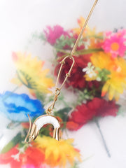 ANDRESGALLARDO Handmade White Porcelain Shrimp and Vermeil Necklace