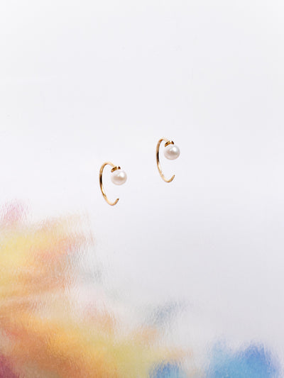 Beatriz Palacios Water Pearls Tusk Earrings