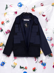 Alexandra Moura X Duffy Arrasto Blue and Black Waterproof Jacket Unisex Made in Portugal