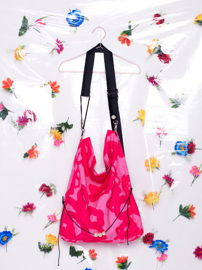 Unflower Big Messenger Bag in Exclusive Pink Print