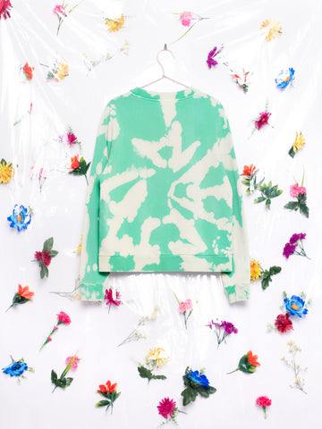 HIBU Unisex Tie-Dye Sweatshirt in Green Made in Portugal Lisbon