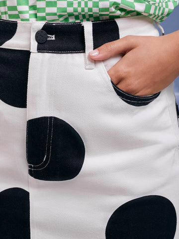 On the Dot Lazy Oaf Pencil Skirt Polka Dots Pocket
