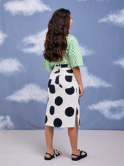 On the Dot Lazy Oaf Pencil Skirt Polka Dots