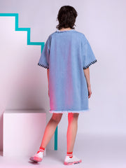Marques'Almeida Oversized T-shirt Dress in Denim