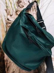 Alexandra Moura Oversized Fanny Pack in Forest Green