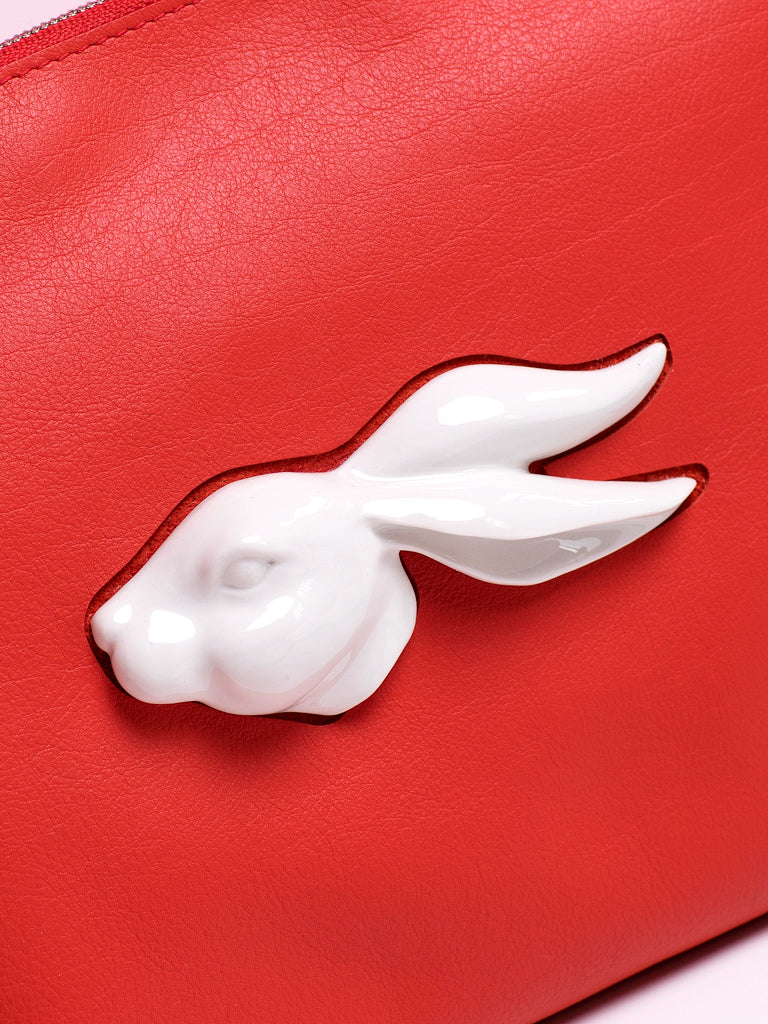 ANDRESGALLARDO Rabbit Head Red Clutch