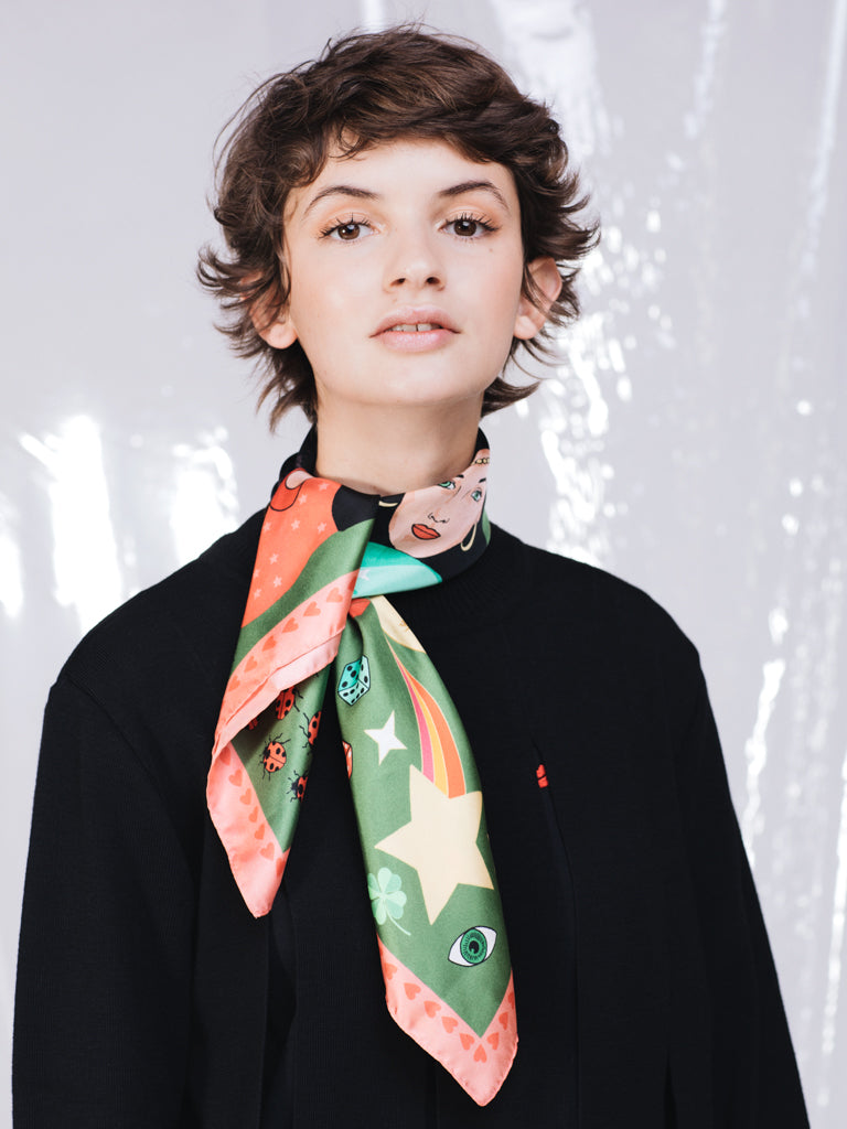 Karen Mabon Today Is Your Lucky Day Silk Scarf