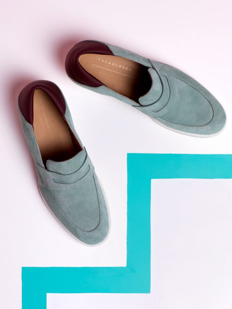 Freakloset Mint Suede Loafers