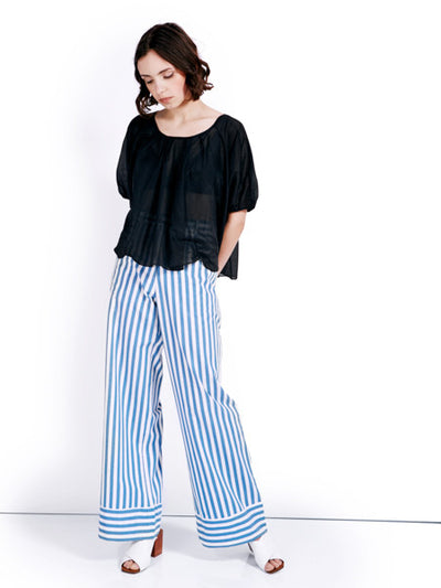 Rachel Antonoff Striped Capi Trousers Look