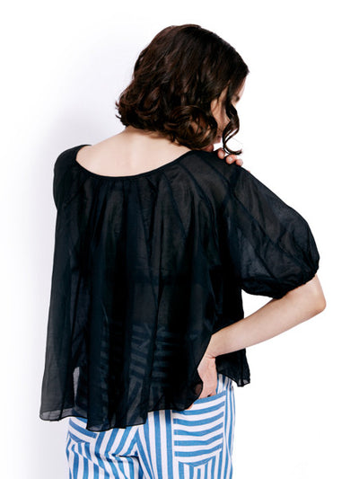 Rachel Antonoff Black Martin Top Back