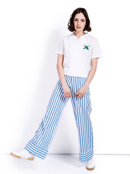Rachel Antonoff Birds Happy Shirt Look