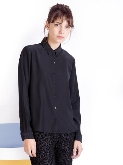 Black Silk Shirt | Outlet