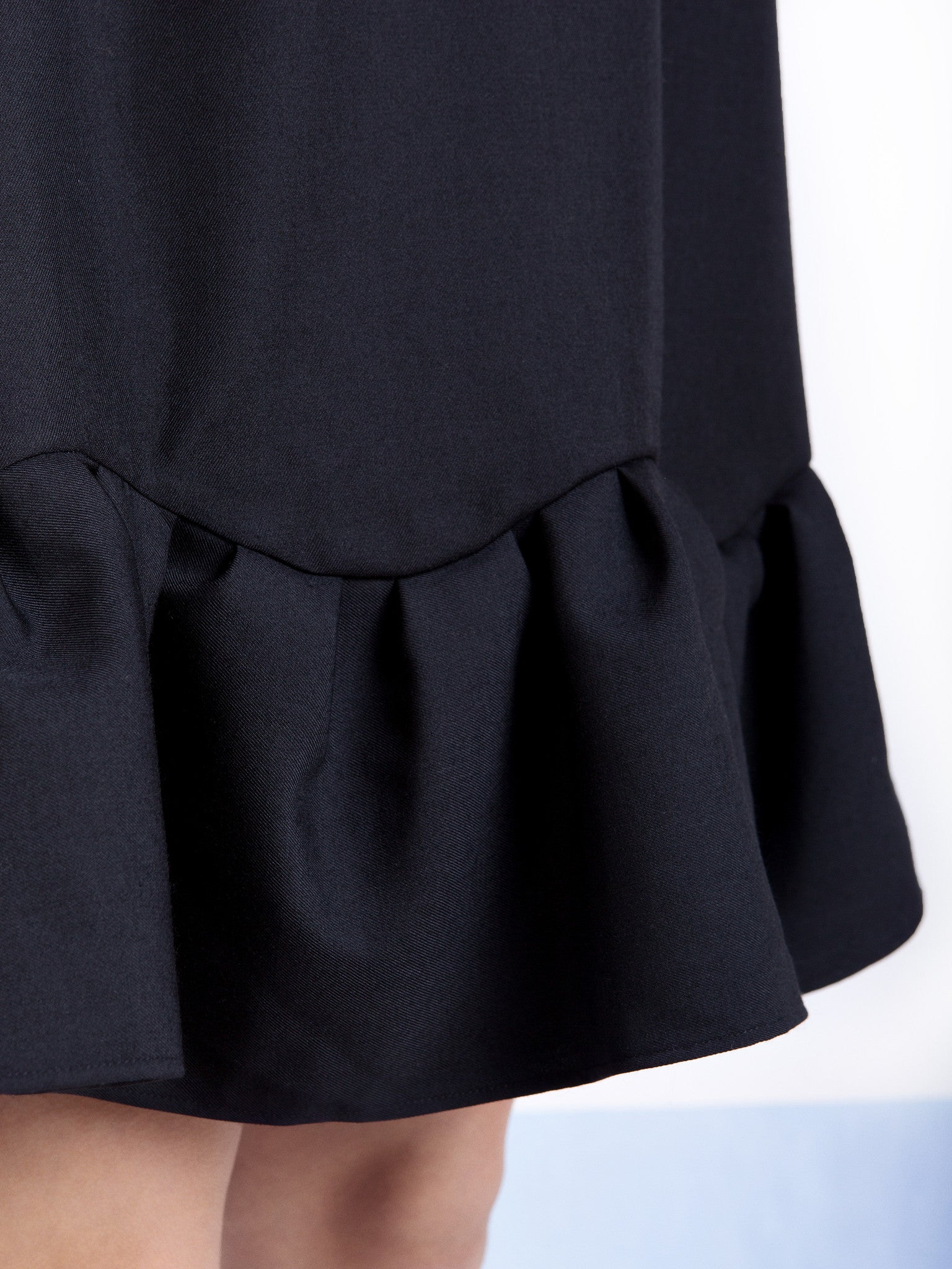 Ambali A- Line Black Frill Dress Detail