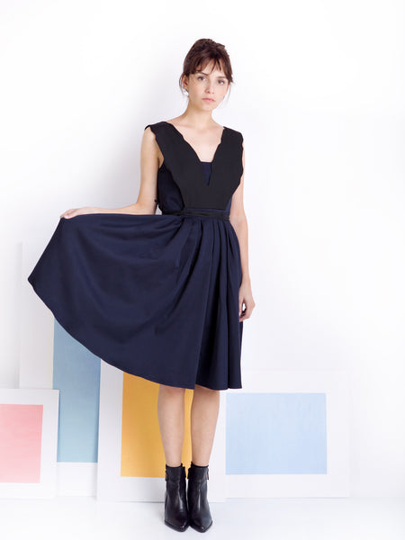 Ambali Black and Navy Dress