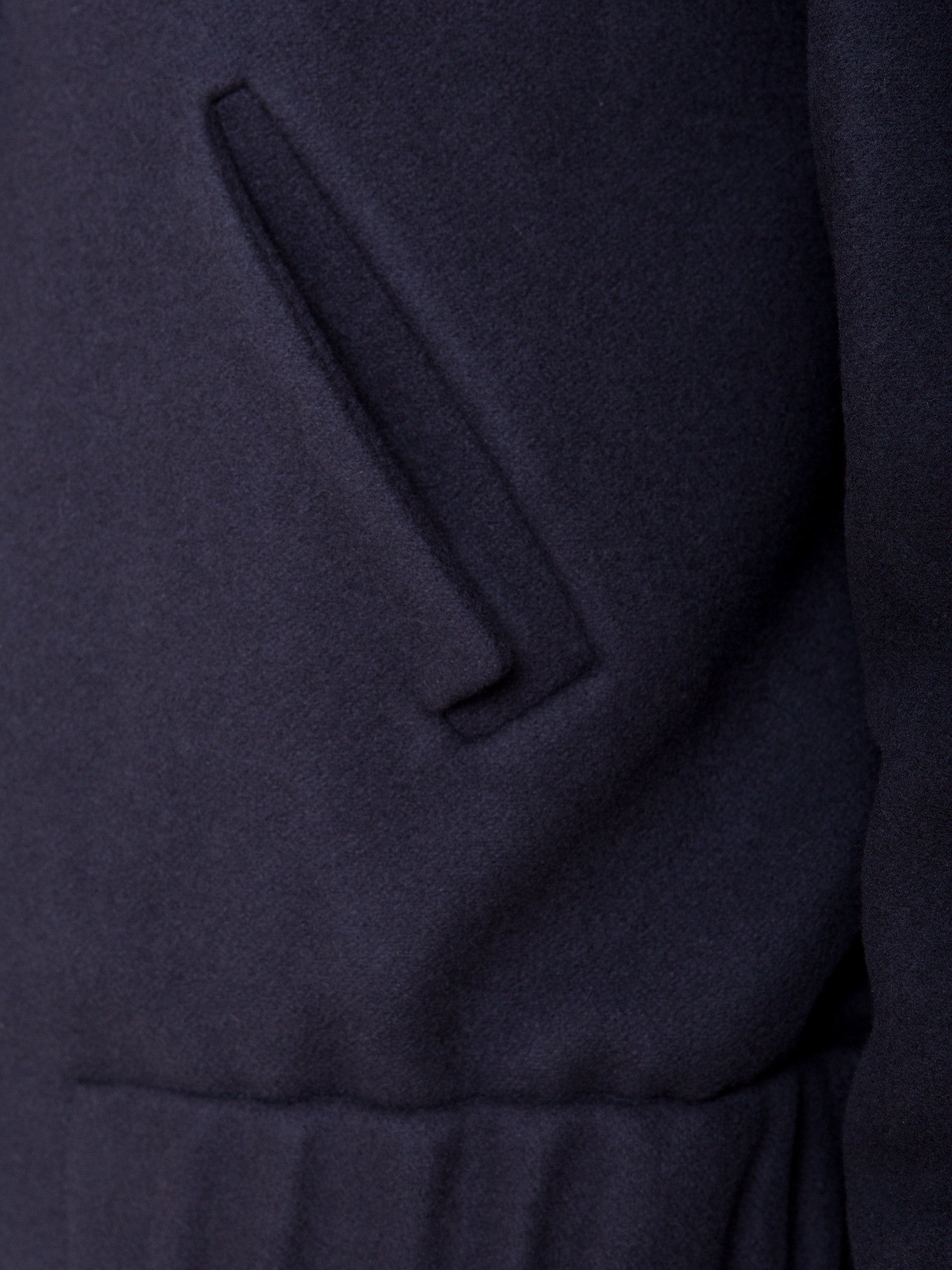 Ambali Dark Navy Bomber Jacket Pocket Detail