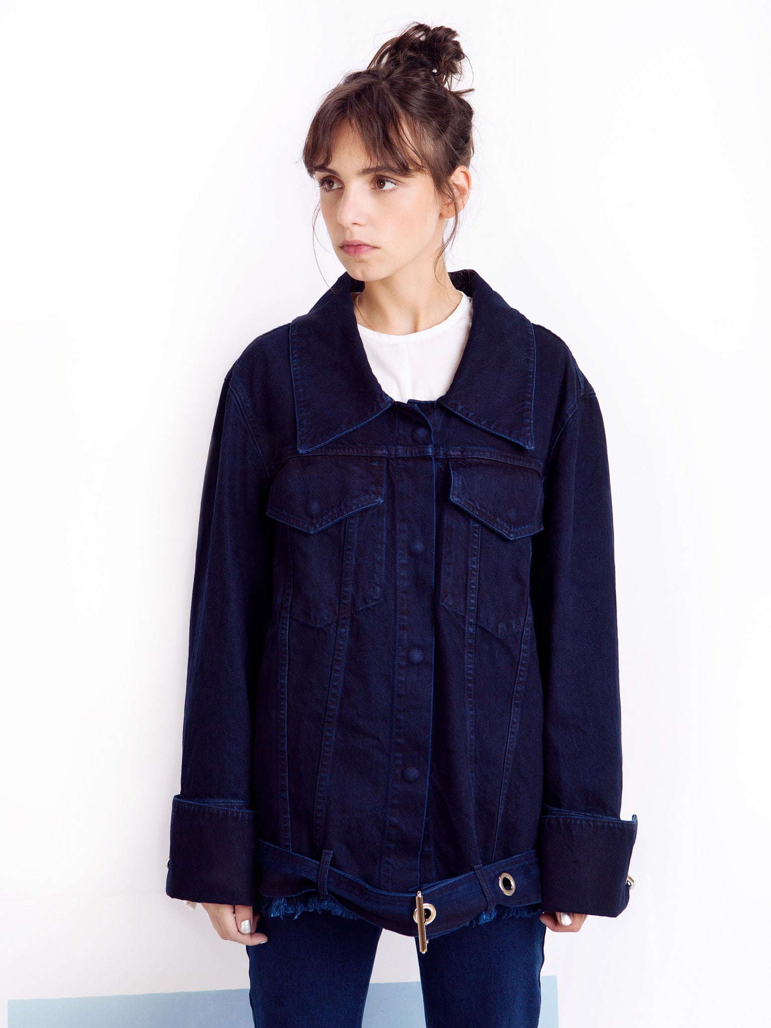 Marques'Almeida Unisex Denim Jacket Front