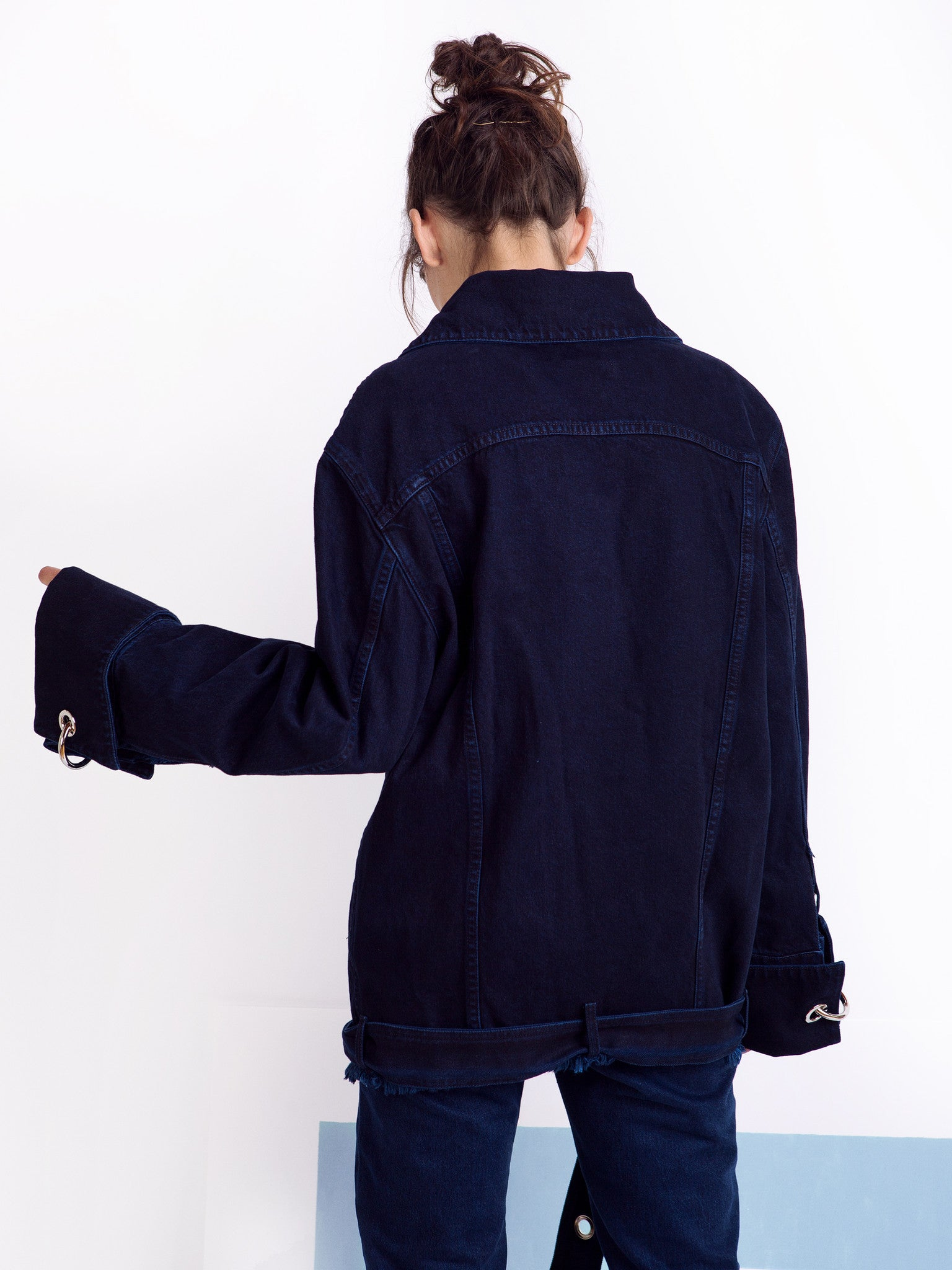 Marques'Almeida Unisex Denim Jacket Back
