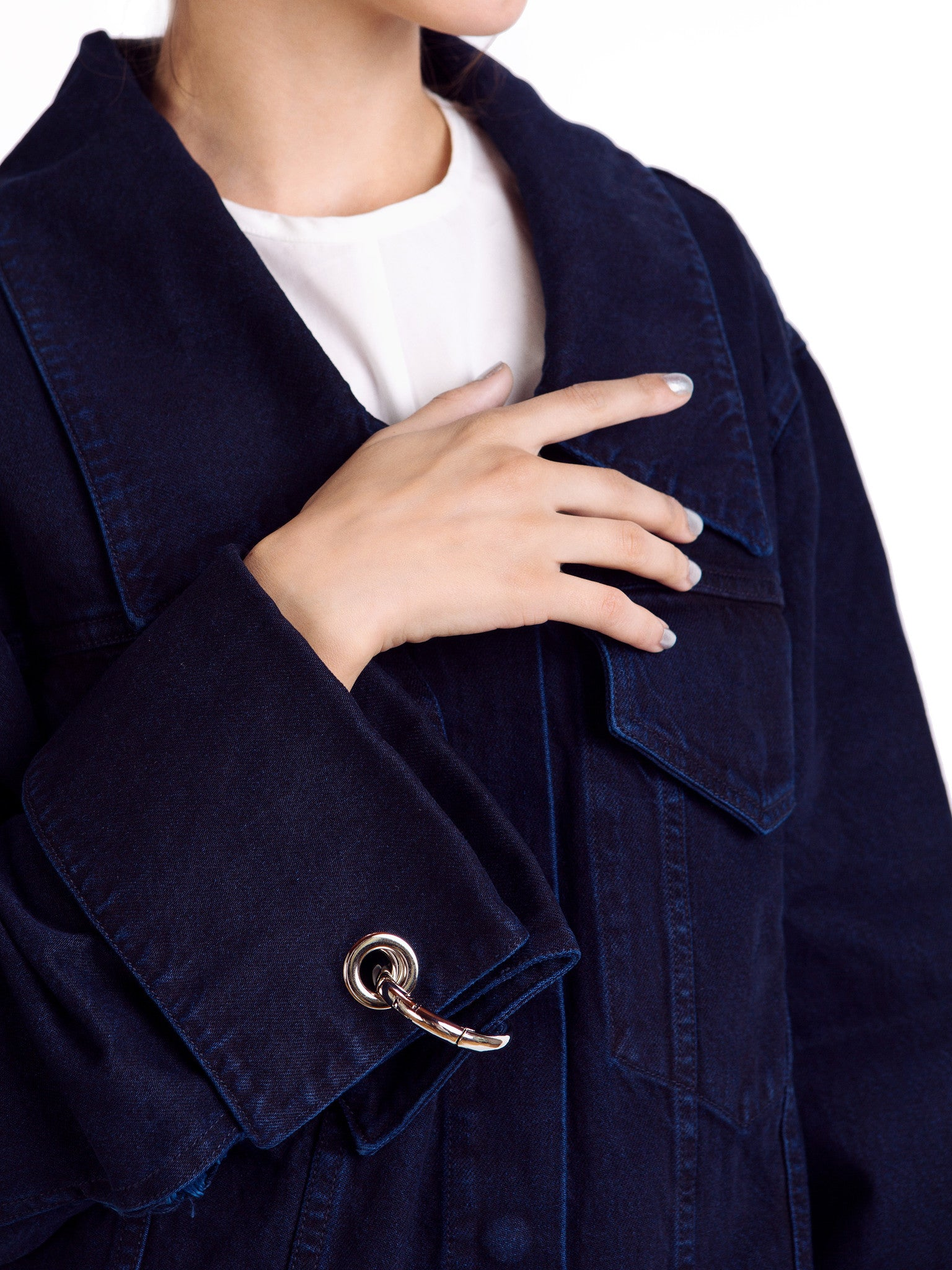 Marques'Almeida Unisex Denim Jacket Detail