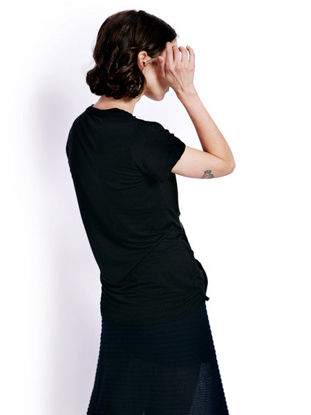 Marques'Almeida Knotted Black T-shirt Back