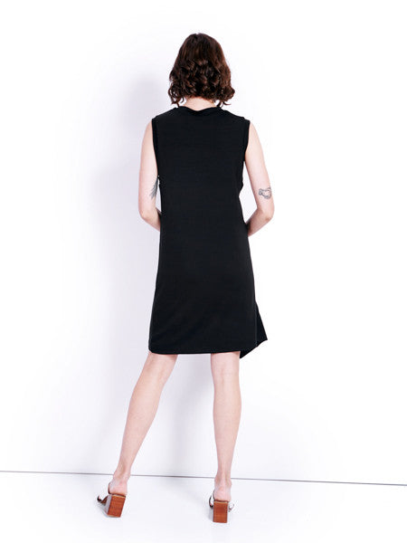 Marques'Almeida Knotted Tank Black Dress Back