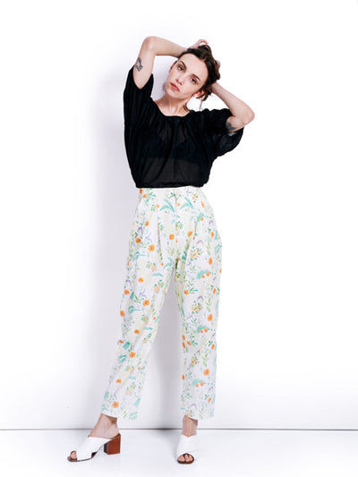 Rachel Antonoff Printed Squin Trousers Look