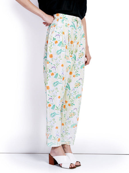 Rachel Antonoff Printed Squin Trousers Front