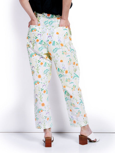 Rachel Antonoff Printed Squin Trousers Back